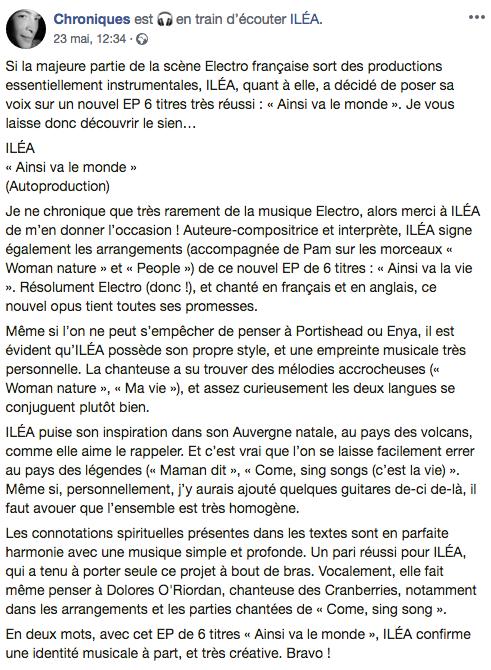 Chronique EP ILEA - Kamarad Fañch